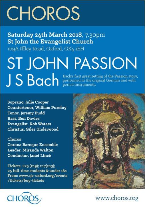 Choros St John Passion Poster